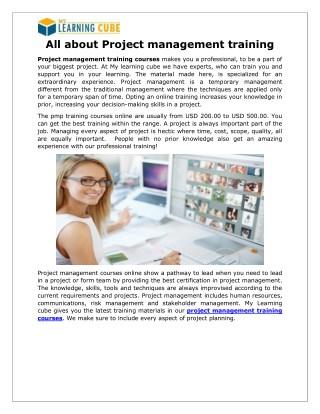 Project Management Online Training