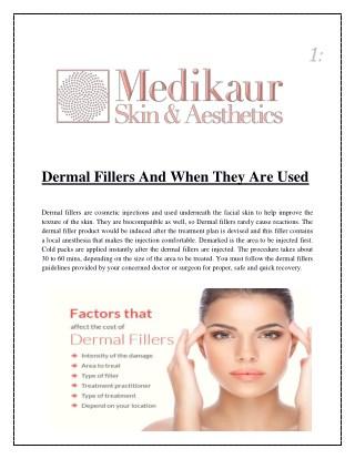 Dermal Fillers, Dermal Filler Injections - Medikaur