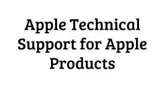Apple Technical Support for Apple Products