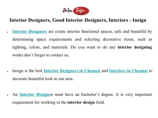 Interior Designers in chennai, Good Interior Designers in Chennai, Interiors in Chennai