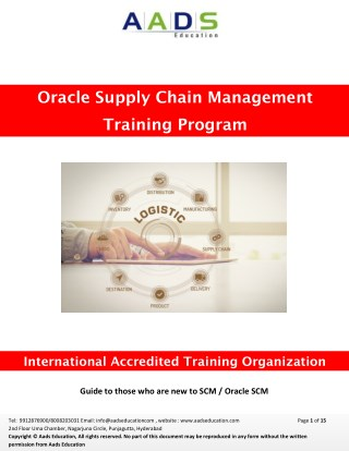 Oracle SCM Training |Oracle R12 SCM Functional Online Training