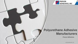 Polyurethane Adhesives Properties