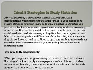 Ideal 5 Strategies to Study Statistics