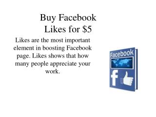 Buy Facebook Likes for $5
