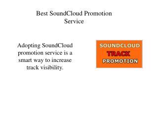 Best SoundCloud Promotion Service