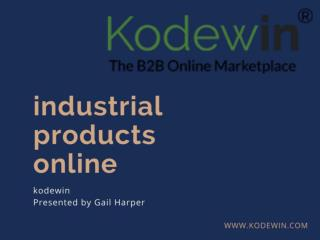 Industrial Products Online-B2B Buying and Selling