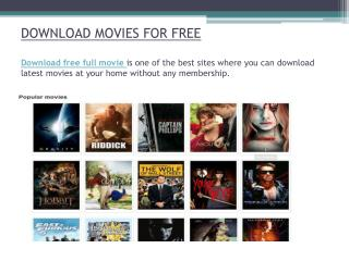 Download latest movies for free