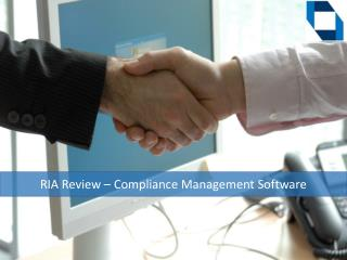 RIA Review - Compliance Management Software