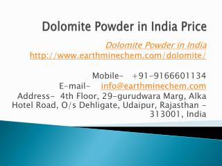 Dolomite Powder in India Price