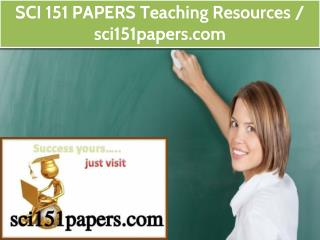 SCI 151 PAPERS Teaching Resources / sci151papers.com