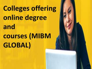 Colleges offering online degree and courses