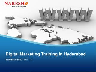 Digital Marketing Training Overview In Hyderabad By Mr.Rakesh NareshIT