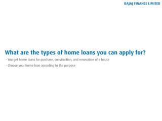 Know all the Different Types of Home Loans