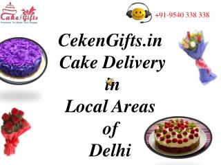 Luscious Cake Delivery in Delhi via CakenGifts