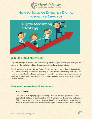 How to Build an Effective Digital Marketing Strategy