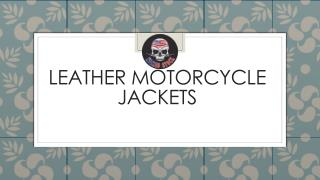 Motorcycle Leather Pants | Leather Motorcycle Vests