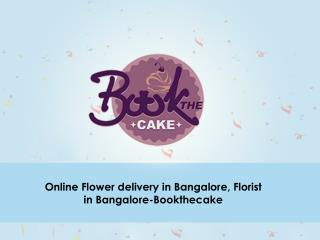 Online Flower delivery in Bangalore, Florist in Bangalore-Bookthecake