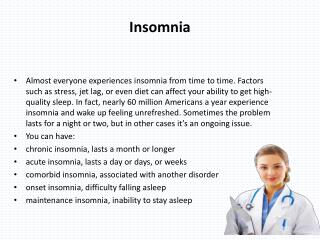 The best Cure for Insomnia is to get a lots of sleep