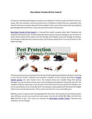 Boca Raton Termite & Pest Control