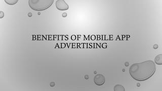 Benefits of Mobile App Advertising