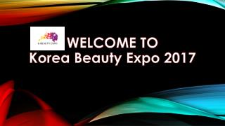 K Beauty Expo 2017 Seoul South Korea