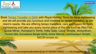 Delhi Monuments Tour by Tempo Traveller