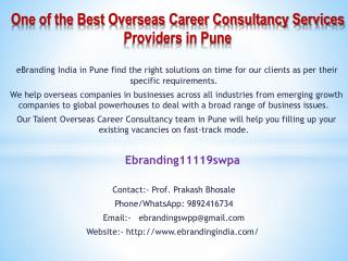 One of the Best Overseas Career Consultancy Services Providers in Pune