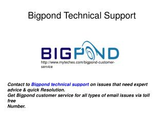 Bigpond Email Support Phone Number