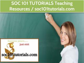 SOC 101 TUTORIALS Teaching Resources / soc101tutorials.com
