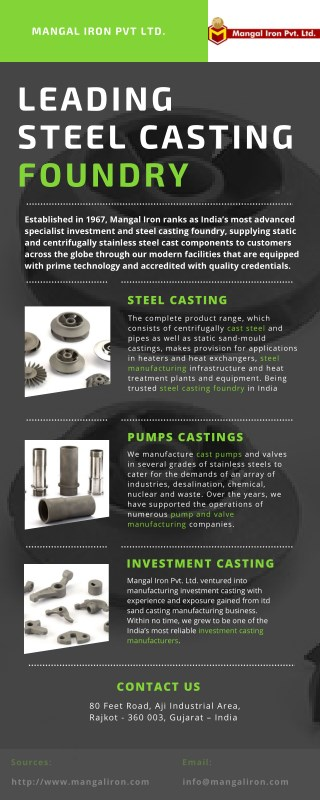 Steel Casting Foundry, Steel Cast Components, Stainless Steel Parts