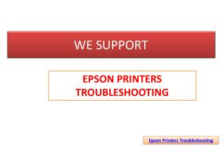 Epson Printers Troubleshooting