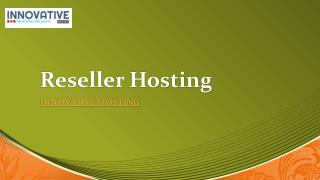 50% Off on Reseller Hosting - Plans Starts @ ?349/Mo?