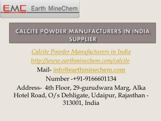 Calcite Powder Manufacturers in India