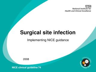 Surgical site infection