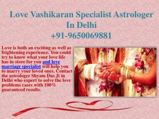 Love Vashikaran Specialist Astrologer In Delhi 9650069881