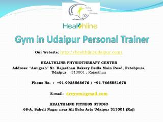 Gym in Udaipur Personal Trainer