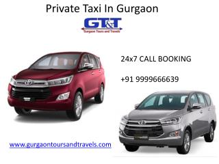 private taxi in gurgaon | Cheap Taxi - Gurgaon Tours And Travels