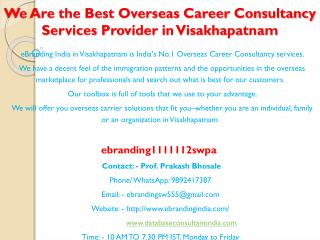 6 We Are the Best Overseas Career Consultancy Services