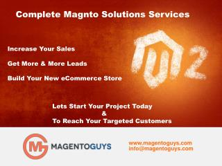 Best Magento Ecommerce Store Development Services