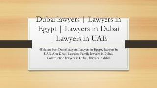 Dubai lawyers | Lawyers in Egypt | Lawyers in Dubai | Lawyers in UAE