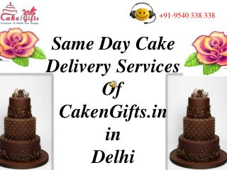 Same Day Cake Delivery in Delhi via CakenGifts.in