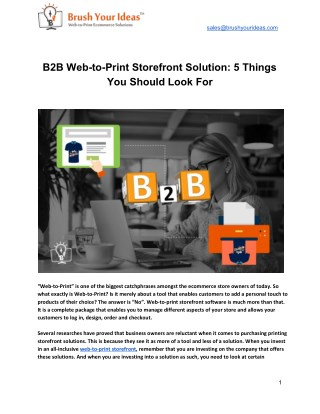 B2B Web-to-Print Storefront Solution: 5 Things You Should Look For
