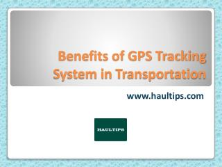 GPS Tracking System in Transportation