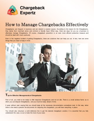 How To Manage chargebacks Effectively