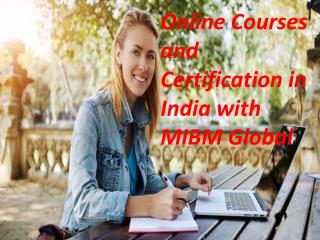 Online Courses and Certification in India with NOIDA