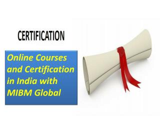 Online Courses and Certification in India with specialization