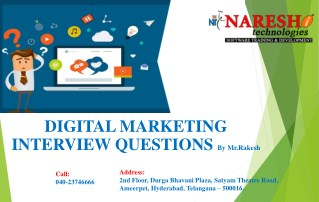 Digital Marketing Interview Questions and Answers By Mr.Rakesh NareshIT
