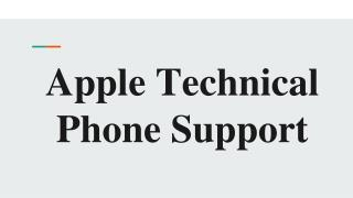 Apple Technical Phone Support