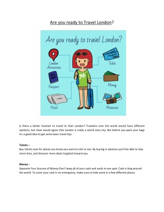 Are you ready to travel London?