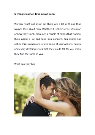 5 things women love about men